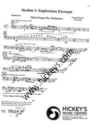 various shifrin hanlon euphonium bass trumpet orchestral barber third essay for orchestra
