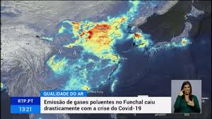 Níveis de poluição do ar no Funchal baixaram com isolamento social