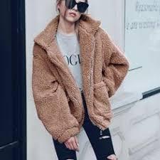Loose Warm Faux Fur Collar Coat in 2019   <b>Fashion</b> outfits   Faux fur ...