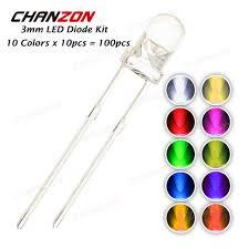 <b>100pcs 3mm LED Diode</b> Kit 3 mm 3V DIY Set Light Emitting Warm ...