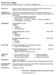 resume startresume template table