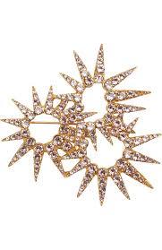 Женская <b>золотая брошь</b> с отделкой кристаллами <b>swarovski</b> ...