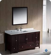 bathroom vanity 60 inch: fresca oxford single  inch transitional bathroom vanity mahogany