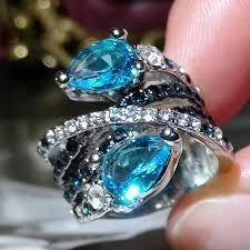 Fashion <b>Jewellery</b> Huge 6.7ct Aquamarine <b>925 Silver Woman</b> ...