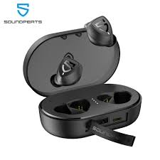 <b>SoundPEATS TWS</b> Bluetooth 5.0 True Wireless Stereo Earbuds ...