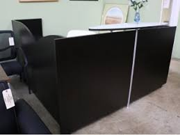 verde series reception l desk boss office products plexiglass reception