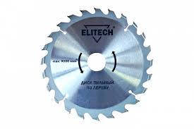<b>Диск</b> пильный <b>ELITECH</b> ф190х20/16х2,4мм, 24зуб, ддерева ...
