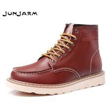 <b>JUNJARM Men</b> Ankle <b>Boots</b> Genuine Leather <b>Mens</b> Work <b>Boots</b> ...