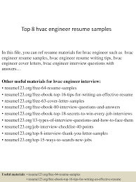 top  hvac engineer resume samples