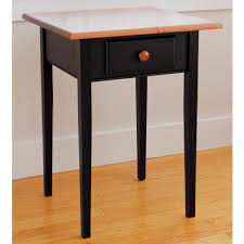 black melamine finished mahogany country end table with natural varnished mahogany wood table top awesome black painted mahogany