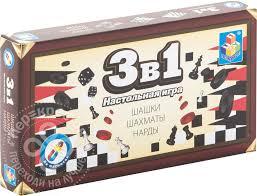 Купить <b>Настольная игра</b> 3в1 <b>1Toy</b> Т52447 с доставкой на дом по ...