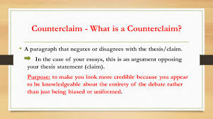 the odyssey argumentative essay es demonstrate understanding of counterclaim what is a counterclaim a paragraph that negates or disagrees the thesis