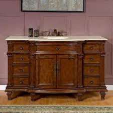 bathroom vanity 60 inch:  silkroad exclusive  inch bath vanity granite top
