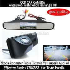 rear view Car Mirror Monitor + HD CCD car <b>rear view Trunk handle</b> ...