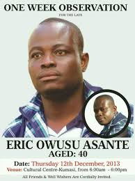 Eric Owusu Asante – week celebration come's off 12th December. - 1460242_1437470006466892_1170546407_n