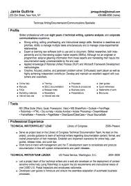 technical writer resume sample resumes design