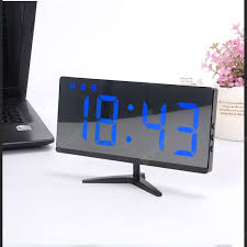 USB Rechargeable Mirror Clock Frameless Multifunctional ...