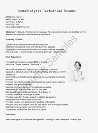dialysis technician resume no experience curriculum dialysis technician resume no experience patient care technician resume no experience technician resume dialysis