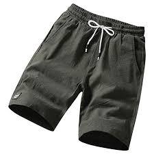 DOLDOA <b>Men's Summer</b> Linen Shorts Leisure Flax <b>Loose</b> ...