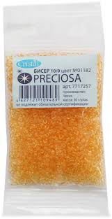 "<b>Бисер</b> ""<b>Preciosa</b>"" <b>прозрачный solgel</b>, 10/0, 20 г. 331-19001-10/0 ..."