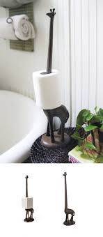 dog faces ceramic bathroom accessories shabby chic: giraffe paper towel holder craze trend