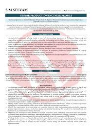 production engineer sample resumes resume format templates production engineer sample resume