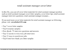retail assistant manager cover letter in this file you can ref cover letter materials for retail assistant cover letter