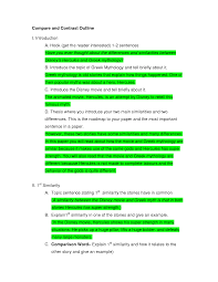 compare and contrast essay outline block format chainimage compare and contrast essay outline block format middot compare and contrast outline doc doc