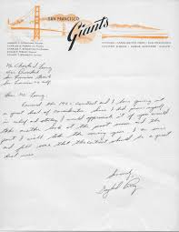 lot detail san francisco giants rare 1960s document archive w san francisco giants rare 1960s document archive w terrific salary negotiation letters from perry