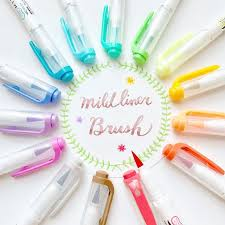 JIANWU <b>5pcs</b>/<b>set japan zebra</b> WFT8 <b>mild</b> liner brush pen Creative ...