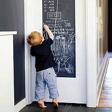 eachwell diy vinyl chalkboard removable blackboard wall sticker decal 18 x 79 with 5 free chalks for home office beautiful home office chalkboard