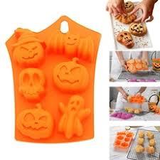 <b>Muffin Pans</b> Non Stick <b>Halloween Silicone</b> Cake <b>Baking Molds</b> ...