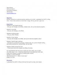 Machine Operator Resume samples   VisualCV resume samples database cnc cnc machine operator sample resume machine operator resume