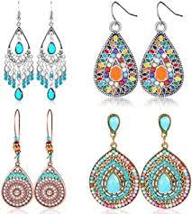 bohemian earrings - Amazon.com