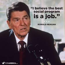 Ronald Reagan quote on jobs   Our Country and Our Times ... via Relatably.com
