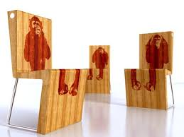 chimpanzee chairs bamboo wood furniture