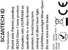 <b>Scantech</b>-ID User's Manual SG-15Colour