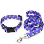 <b>Donut Pattern Polyester Plastic</b> Buckle Collar - Blue S