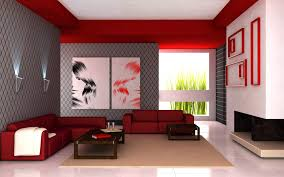 Red Wall Living Room Decorating Cool Living Room Interior With Flashy Red Color Stylendesigns