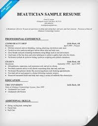 beautician resume example httpresumecompanioncom beautician jobs