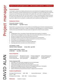 project manager cv template  construction project management  jobs    project manager cv example