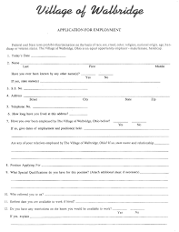 village of walbridge employment application employment application village of walbridge