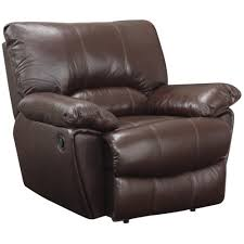 Coaster - 600283 - Clifford <b>Brown</b> Leather <b>Recliner</b> with Pillow Arms ...