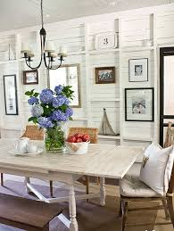 pictures of dining room decorating ideas: i love the mix match chairs and bench and the variety of pictures on the