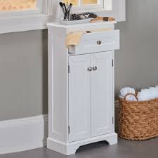 White Bathroom Units Weatherby White Bathroom Cabinet Its Slim Design And Small