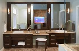 built bathroom vanity design ideas: trendy modern bathroom vanity design with stunning use of mirrors and picture of new in plans free ideas modern built in makeup vanity