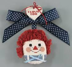 """Ornament:Raggedy Ann """"<b>I Love You</b>"""" Ornament - Joan Kumparak ..."""
