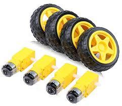4pcs <b>DC</b> Electric Motor <b>3</b>-<b>6V</b> Dual Shaft Geared TT Magnetic ...