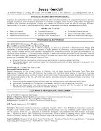 financial analyst resume samples resume format  financial analyst resume samples