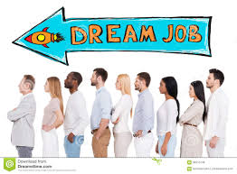 in search of dream job stock illustration image  in search of dream job